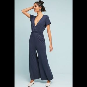 Saturday Sunday Anthro Navy Blue Jumpsuit XS